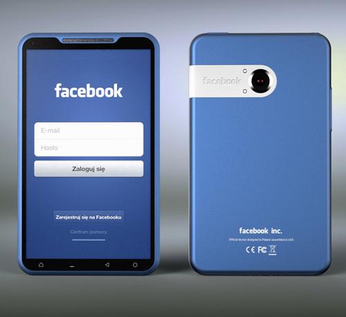 Smartphone Facebook Terlihat Ramping dan Tipis