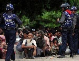 Polisi Arakan dan Rohingya (Foto alhittin)