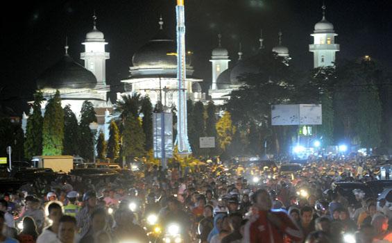 Malam Takbiran di Mekkah Tanpa Konvoi dan Pawai Obor