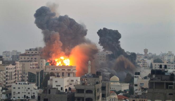 Serangan di Gaza (REUTERS/Mohammed Salem)