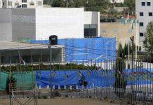 Prosesi pembongkaran kuburan Yasser Arafat (madhyamam.com)
