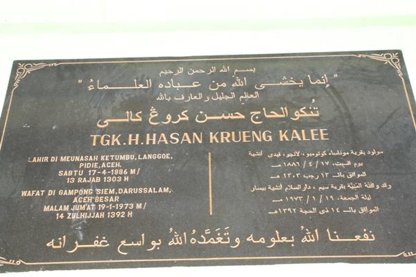 Tgk Hasan Krueng Kalee (Foto Aulia Fitri)