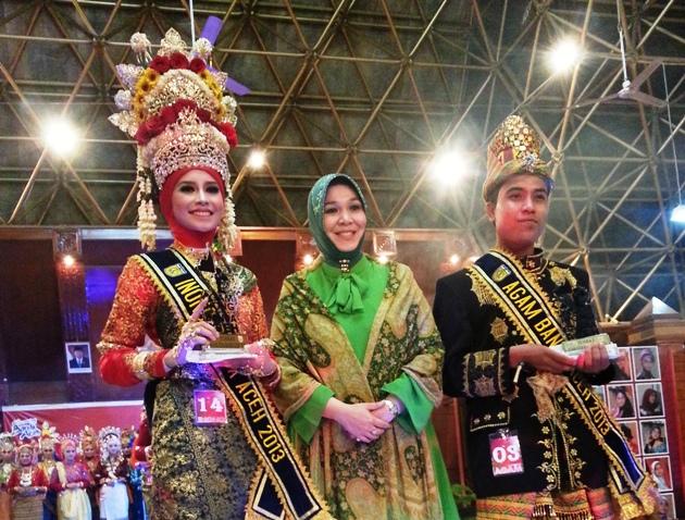 Fahmi Risnaldi dan Nabilla Khaira Terpilih Sebagai Duta Wisata Banda Aceh 2013