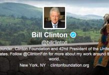 Twitter @billclinton