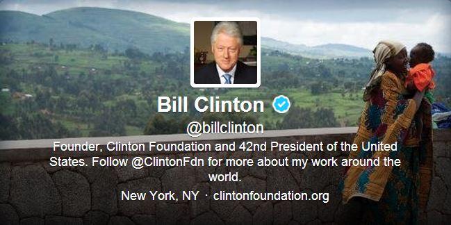 Twitter @billclinton