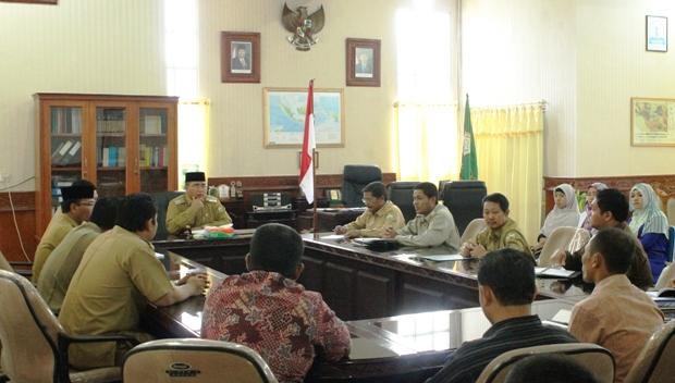 Pemkab Aceh Tengah saat rapat bahasa beasiswa dokter (Dok Humas Aceh Tengah)
