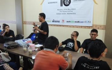 Foto: WordPress 10th Anniversary di Banda Aceh