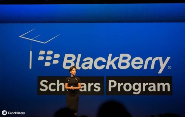 Alicia Keys saat menjelaskan tentang Blackberry Scholars Program