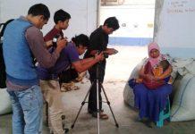 Proses pengambilan gambar film dokumenter Perempuan Kopi (Facebook Aceh Documentary)