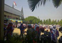 Suasana setelah nonton bareng di SMKN 2 Langsa (Ist)