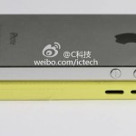 Perbedaan tombol volume iPhone 5 (atas) vs iPhone Light (bawah)