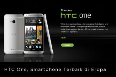 HTC One, Smartphone Terbaik di Eropa