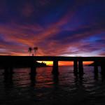 Sunset di dermaga Pulau Bunta (M Iqbal/SeputarAceh.com)