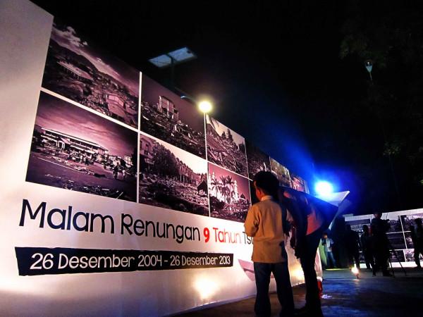 Malam renungan peringatan 9 tahun tsunami di Banda Aceh (M Iqbal/SeputarAceh.com)