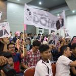 Para pendukung Agam Inong Aceh Banda Aceh (Foto M Iqbal/SeputarAceh.com)