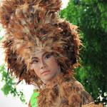 Fashion show dari bulu ayam (Foto M Iqbal/SeputarAceh.com)