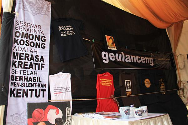 Kata-kata kreatif dari salah satu stand di Pekan Kreatif (Foto M Iqbal/SeputarAceh.com)