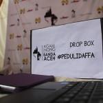 Kotak Peduli Daffa di arena Pekan Kreatif (Foto M Iqbal/SeputarAceh.com)