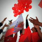 Melepaskan balon World Thalassemia Day di Banda Aceh (Foto M Iqba/SeputarAceh.com)