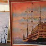 Lukisan Kapal Kerajaan Aceh (Foto M Iqbal/SeputarAceh.com)