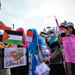 Relawan mengedarkan kotak donasi buat korban kebiadaban Israel di Palestina (Foto M Iqbal/SeputarAceh.com)