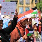 Selamatkan saudara-saudara kami di Palestina (Foto M Iqbal/SeputarAceh.com)