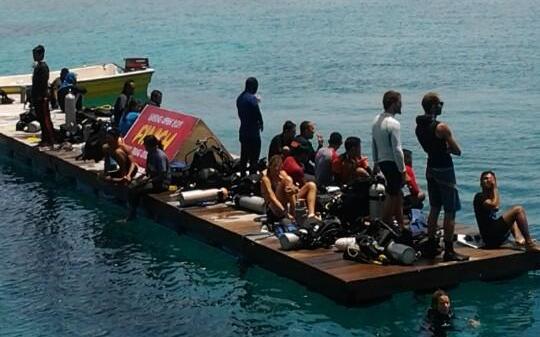 Suasana Aceh Diving di Sabang (Foto Twitter @acehdiving)