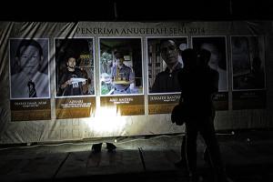 Para penerima anugerah seni di HKD Aceh 2014 (Foto M Iqbal/SeputarAceh.com)