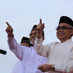 Wali Nanggroe, Malik Mahmud dan Gubernur Aceh, dr Zaini Abdullah (Foto M Iqbal-SeputarAceh.com)