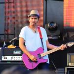 Ridho sebagai guitaris slank tampil di Blang Padang (Foto M Iqbal/SeputarAceh.com)