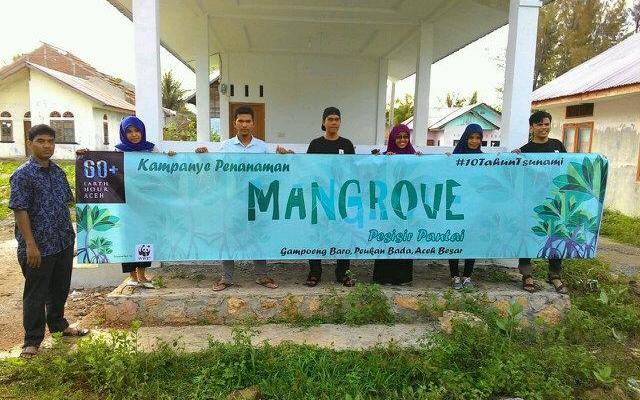Peringati 10 Tahun Tsunami, Earth Hour Aceh Gelar Penanaman Pohon Bakau
