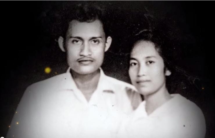 Foto Azimar bersama suaminya (Foto Repro)