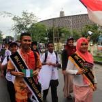 Wakil Agam dan Inong Aceh Besar mengikuti pawai acara #2612CareDay di Banda Aceh (Foto M Iqbal/SeputarAceh.com)