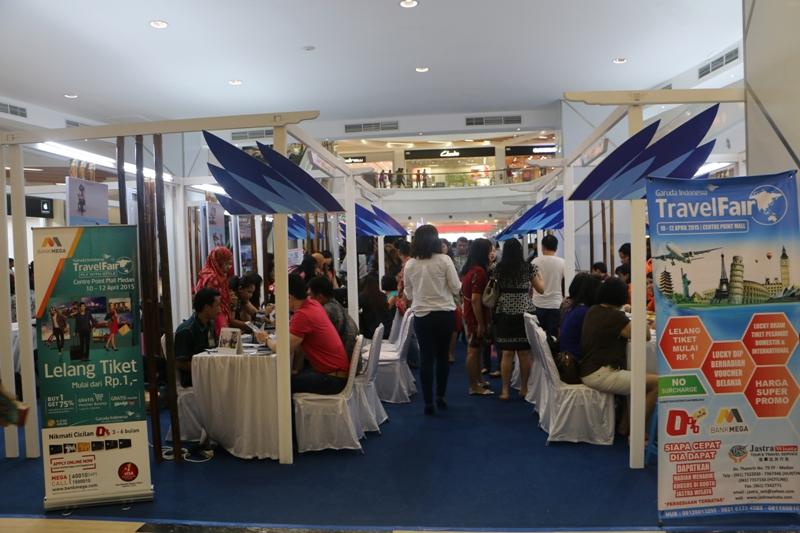 Suasana pameran GATF 2015 di Medan (Foto IST)