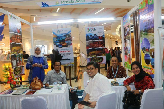 Stand informasi wisata Pemerintah Aceh di pameran GATF 2015 (Foto IST)