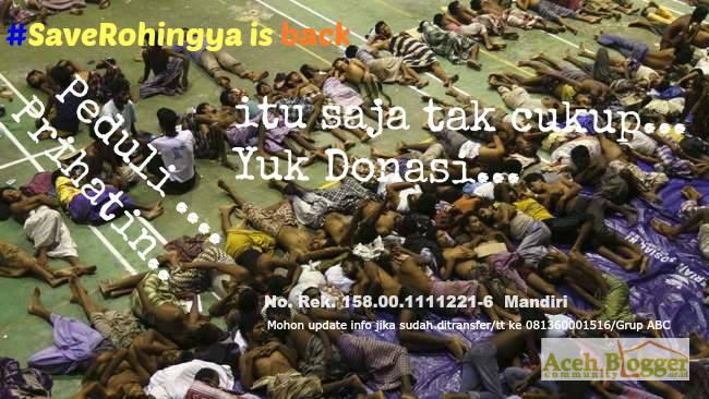 Banner #SaveRohingya bersama Aceh Blogger