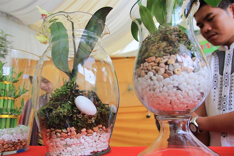 Koleksi bunga hias di Festival Kota Hijau Banda Aceh (Foto M Iqbal/SeputarAceh.com)