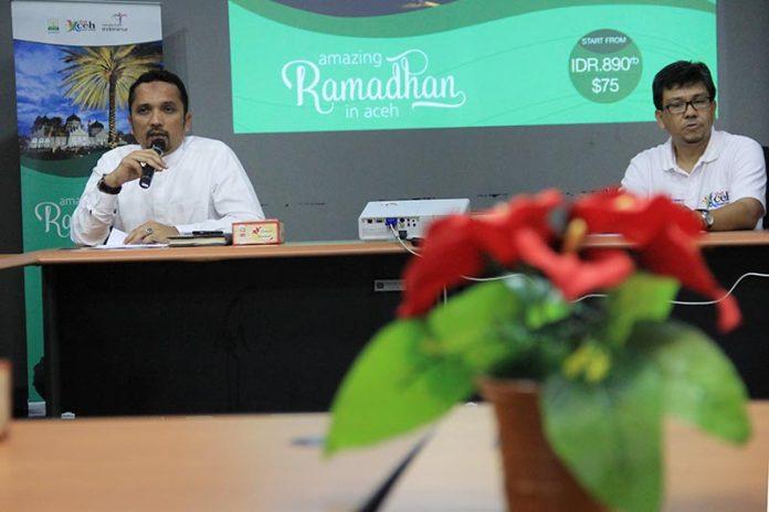 Launching paket wisata Amazing Ramadhan In Aceh oleh Kadis Budpar Aceh dan Kabid Pemasaran Disbudpar Aceh di Museum Tsunami Aceh (Foto M Iqbal/SeputarAceh.com)