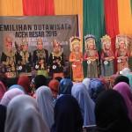 Peserta yang masuk 5 besar Agam dan Inong Duta Wisata Aceh Besar (Foto M Iqbal/SeputarAceh.com)