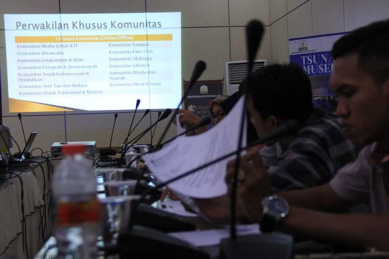 Sekitar 13 genre komunitas baik offline atau online diikutseratakan (Foto M Iqbal/SeputarAceh.com)