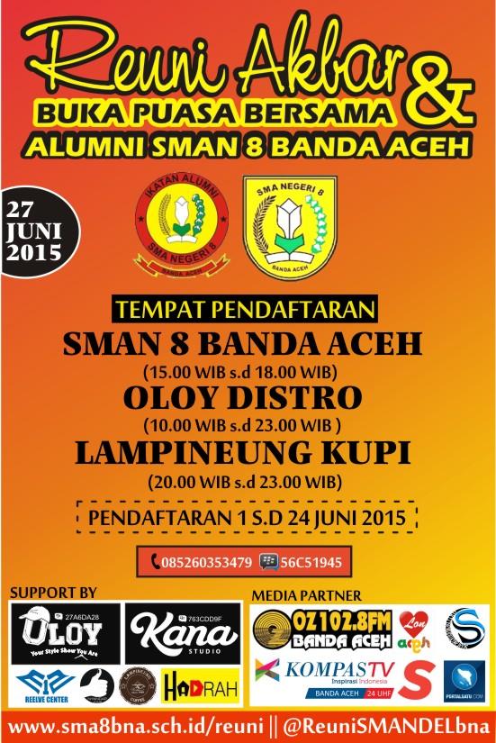 Poster Reuni Akbar SMAN 8 Banda Aceh