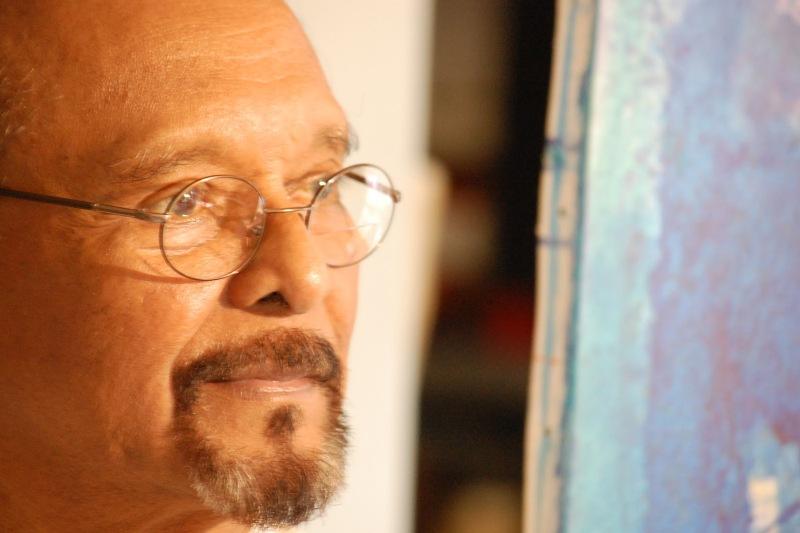 AD Pirous pelukis Aceh (Foto Ahda Imranhttp://meditasisamudra.blogspot.com)