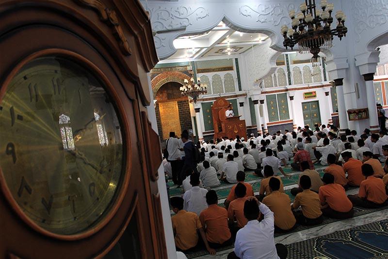 Acara 10 Tahun Perdamaian Aceh telah dimulai pada pukul sepuluh pagi hari di dalam Masjid Raya Baiturrahman (Foto M Iqbal/SeputarAceh.com)