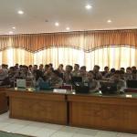 Peserta dari Polres se Aceh mengikuti sosialisasi jurnalistik dan pengelolaan website tribratanewsaceh dan tribratanews Polres se Aceh di Aula Machdum Sakti, Polda Aceh, Senin dan Selasa (9-10/11/2015).