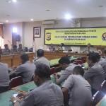 Suasana sosialisasi jurnalistik dan pengelolaan website tribratanewsaceh dan tribratanews Polres se Aceh di Aula Machdum Sakti, Polda Aceh, Senin dan Selasa (9-10/11/2015).
