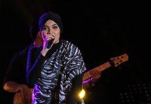 Citra Scholastika tampil mengenakan hijab acara MLD-Spot Jazz In Town di Ballroom Hermes Hotel, Banda Aceh (Foto M Iqbal/SeputarAceh.com)