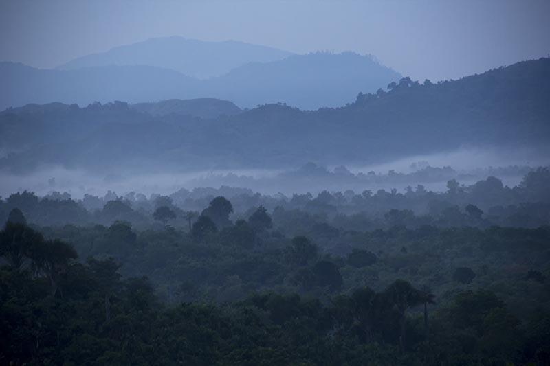 Suasana kabut pagi di sebelah utara bukit lemah Seulawah Aceh Besar (Foto M Iqbal/SeputarAceh.com)