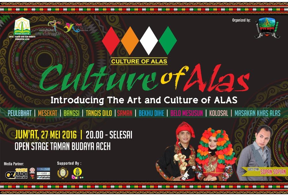 """Culture of Alas"" Akan Digelar 27 Mei di Banda Aceh"