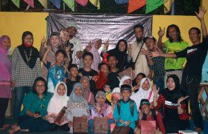 Berpuisi, Berbagi Bersama Yatim Dhuafa Rumah Baca Maslamah Foundation