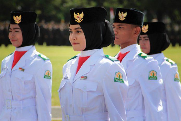 Paskibraka cantik di upacara HUT RI ke-71 di lapangan Blang Padang, Banda Aceh (Foto M Iqbal/SeputarAceh.com)